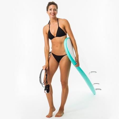 Top bikini Surf Triángulos Corredizos Mae Negro Mujer