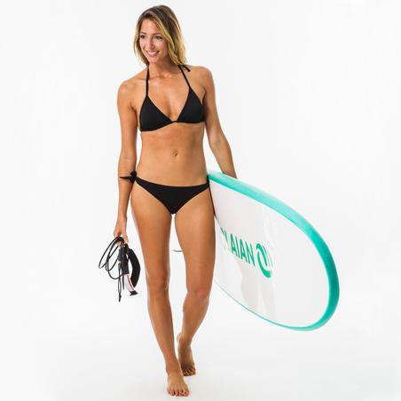 Sabi Women's Side-Tie High-Leg Swimsuit Bottom Bikini Briefs - Black