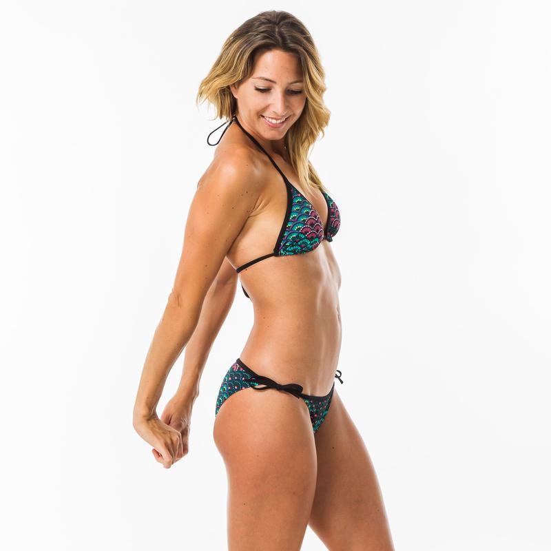 Sujetador Bikini Mae Jiu Mujer Triángulos Corredizos Copas Desmontables