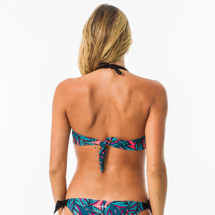 Bandeau swimsuit top LAURA WAKU with removable padded cups
