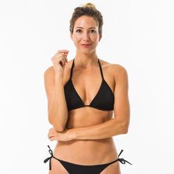 Top bikini triángulo Surf Olaian Mae Mujer Negro