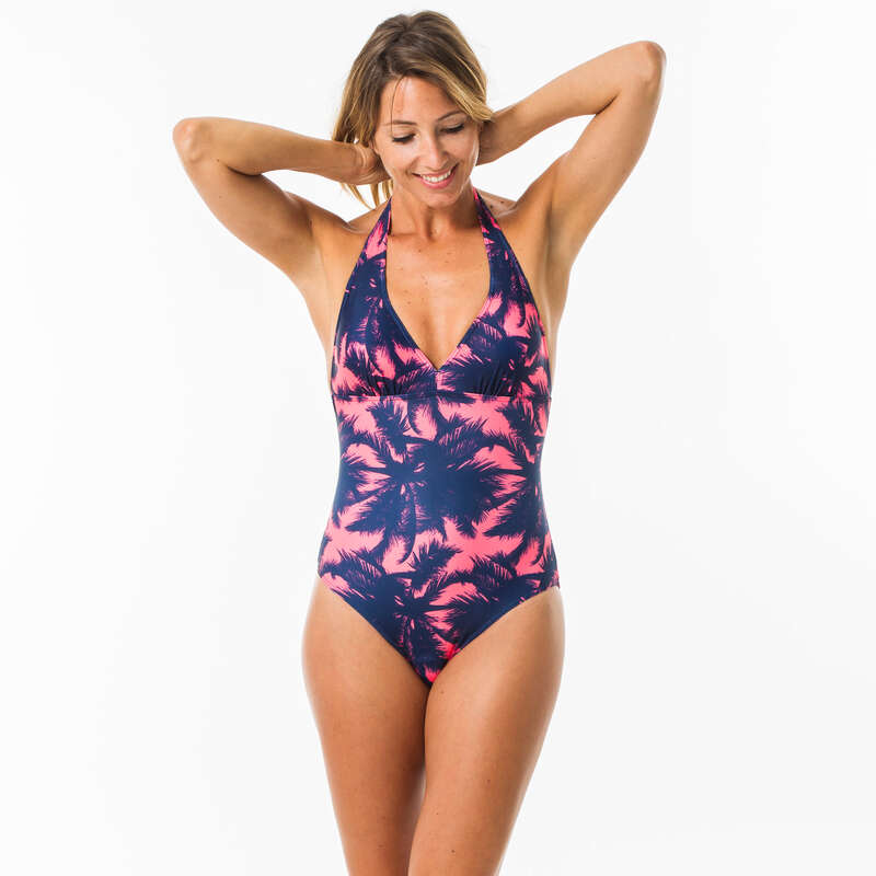 WOMEN BEGINNER SURF SWIMSUIT Surf - 1 PIECE CLEA POLY OLAIAN - Surf Clothing