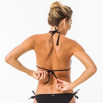 Parte superior de bikini Triángulos Corredizos Surf Mae Mujer Negro