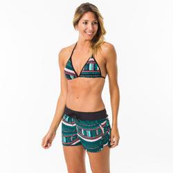 Boardshort surf femme TINI VILA avec ceinture élastiquée et cordon de serrage