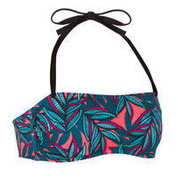 Brassier-top de bikini Laura Waku Bandeau Copas Desmontables