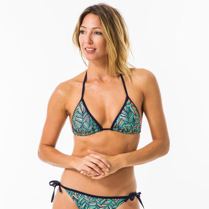 Haut de maillot de bain femme triangle coulissant avec coques MAE FOLY