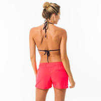 Women's boardshorts with elastic waistband and drawstring TINI COLORB