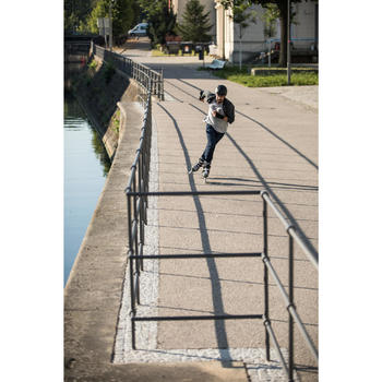 Freeride skeelers voor volwassenen MF900 hardboot kaki