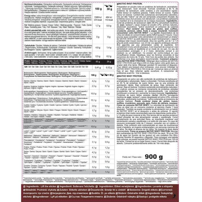 Native whey eiwitten chocolade 900 g
