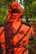 HIGH VIS DRIVEN/POST CLOTHING Shooting and Hunting - WARM W/PR JACKET 500 CAMO BL SOLOGNAC - Hunting and Shooting Clothing