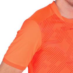 T shirt entraînement de rugby Perf Tee R500 orange