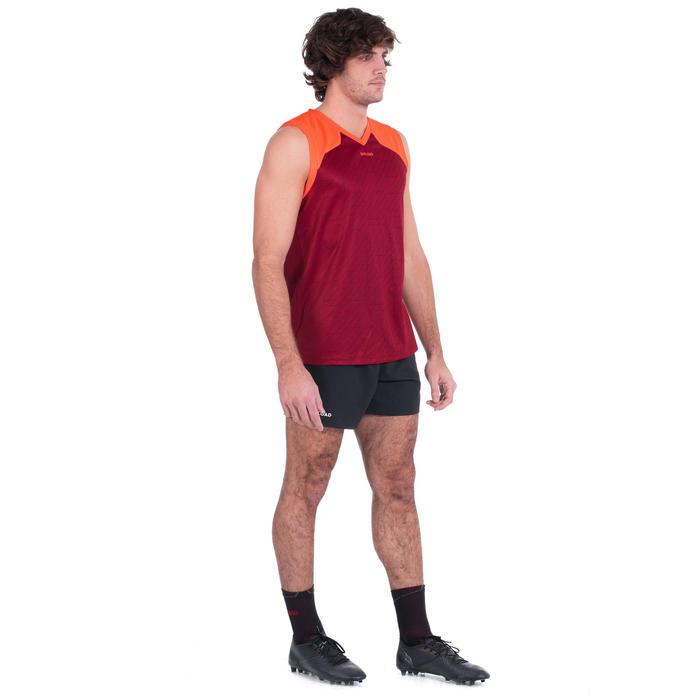 Débardeur de rugby singlet R500 sans manche homme rouge bordeaux