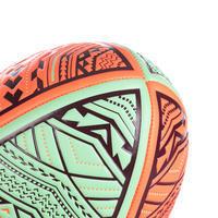 Ballon de beach rugby R100 taille 4 Maori rouge et vert