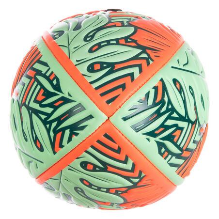 Beach Rugby Ball R100 Midi Tropical - Orange/Green