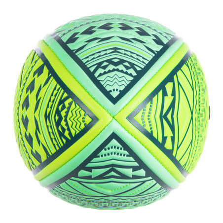 Beach Rugby Ball R100 Midi Maori - Yellow/Green