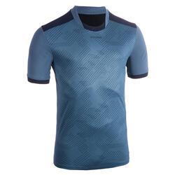 Trainingsshirt met korte mouwen voor rugby volwassenen Perf Tee R500 blauw