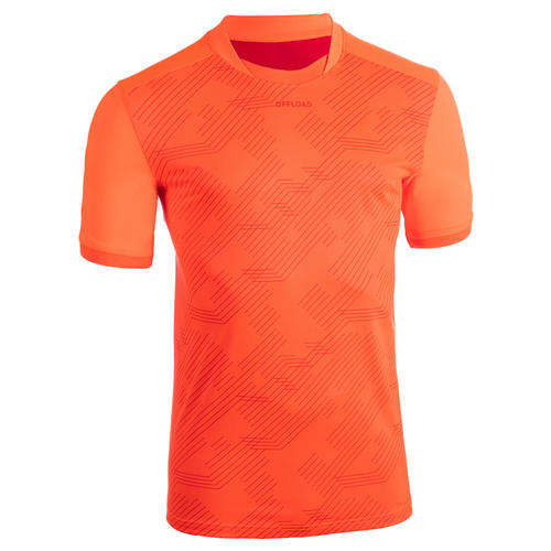 T shirt entraînement de rugby Perf Tee R500 orange