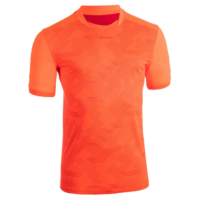 APPAREL RUGBY MEN Rugby - Adult Perf Tee R500 - Orange OFFLOAD - Rugby Clothing