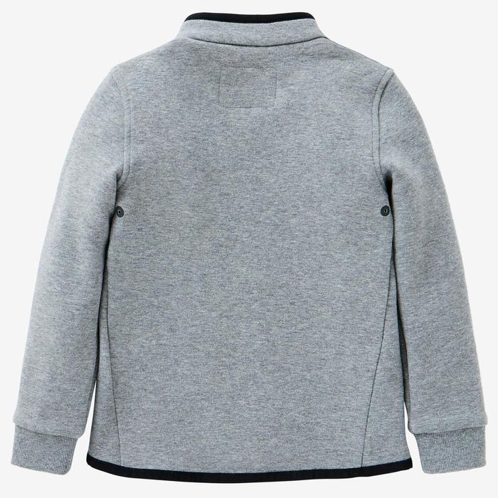 Vest voor kleutergym 500 middengrijs/zwart