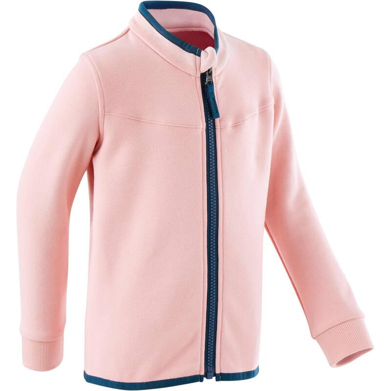 OBLEČENÍ CVIČENÍ PRO NEJMENŠÍ Cvičení pro děti - DÍVČÍ BUNDA 500 RŮŽOVÁ DOMYOS - Oblečení pro děti od 1 do 6 let