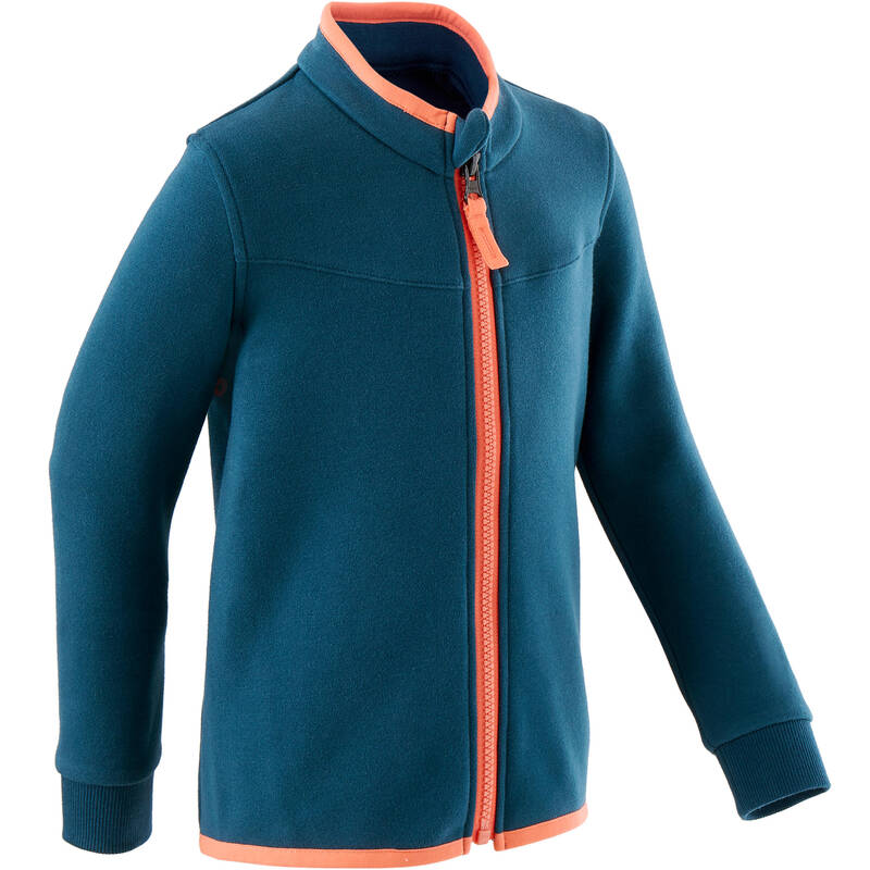 OBLEČENÍ CVIČENÍ PRO NEJMENŠÍ Cvičení pro děti - DĚTSKÁ BUNDA 500 MODRÁ DOMYOS - Oblečení pro děti od 1 do 6 let