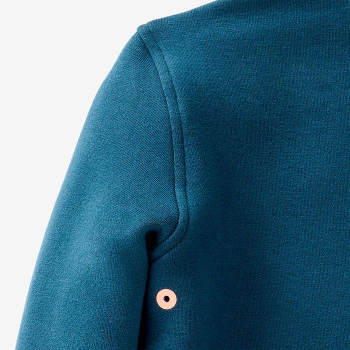 Vest voor kleutergym 500 petrolblauw
