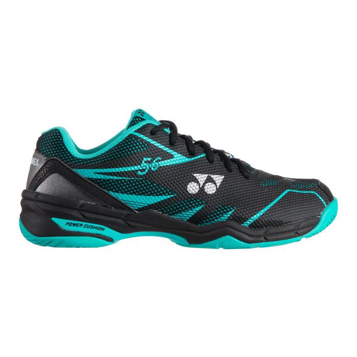 Badmintonschoenen voor heren Power Cushion 56 zwart/muntgroen