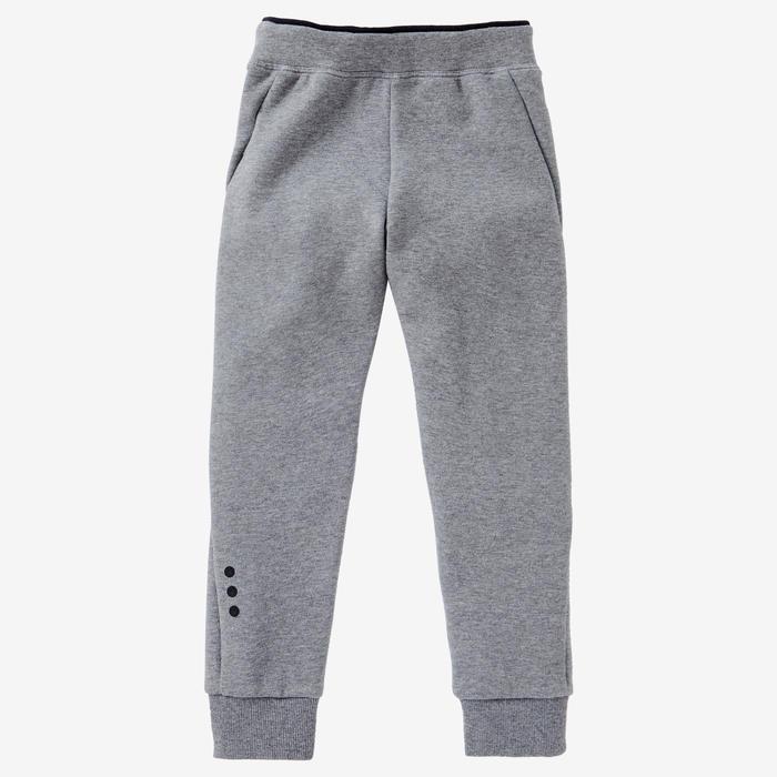 Pantalon 500 Baby Gym fille et garçon Gris moyen
