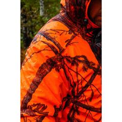 Chaqueta Caza Solognac 100 Calida Impermeable Camuflaje Naranja Fluo