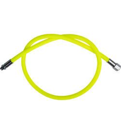 水肺章魚式調節器編織充氣管SCD Hyperflex-螢光黃