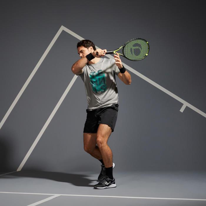 Tennisshirt voor heren TTS100 grijs