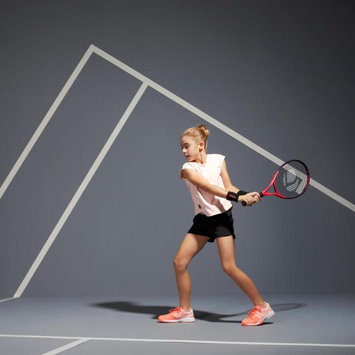 Tennisshort voor meisjes Artengo TSH500 zwart
