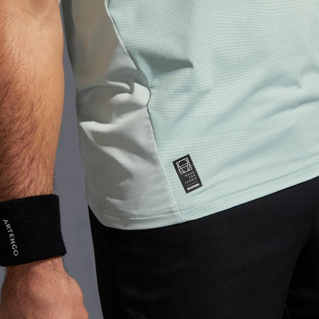 T-shirt Tenis TTS 500 Dry Pria - Hitam/Biru