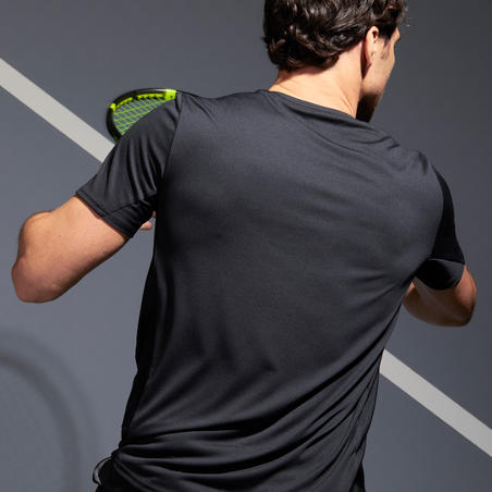 Kaus Tenis Pria TTS100 - Hitam