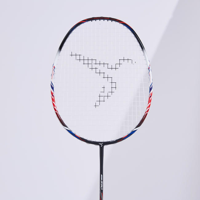 ADULT BADMINTON RACKET BR 590 BLACK WHITE RED