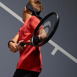 Tennisshirt voor jongens 900 rood