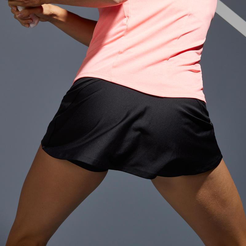 กระโปรงผู้หญิงสำหรับใส่เล่นเทนนิสรุ่น SK Dry 100 (สีดำ)
