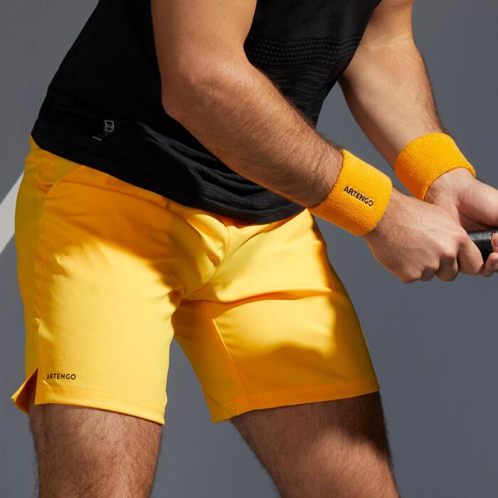 男款快乾網球短褲TSH 500-黃色