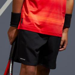 Tennisshort voor kinderen Artengo TSH500 zwart