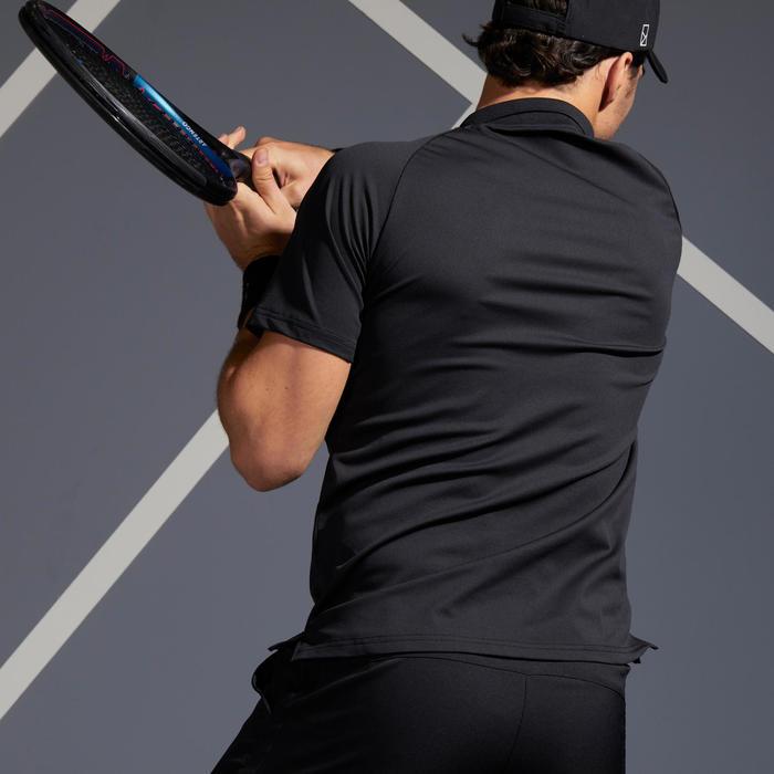 Tennispolo heren TPO 500 Dry zwart/zilver
