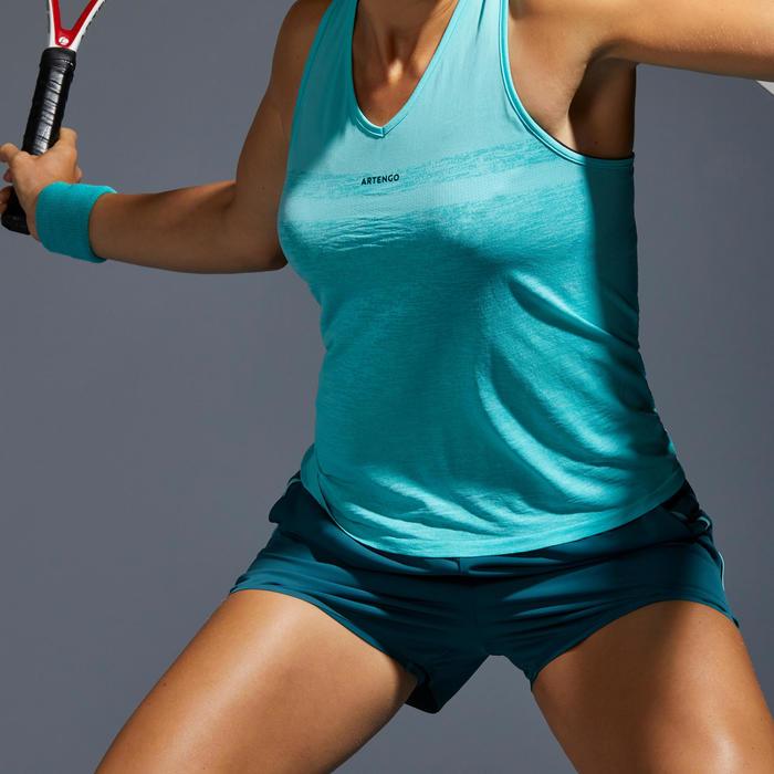 Tennisshort voor dames SH Light 900 groen