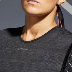 Tennis-T-shirt voor dames TS Light 990 zwart