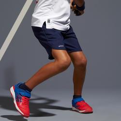 Tennisshort voor kinderen Artengo TSH500 marineblauw
