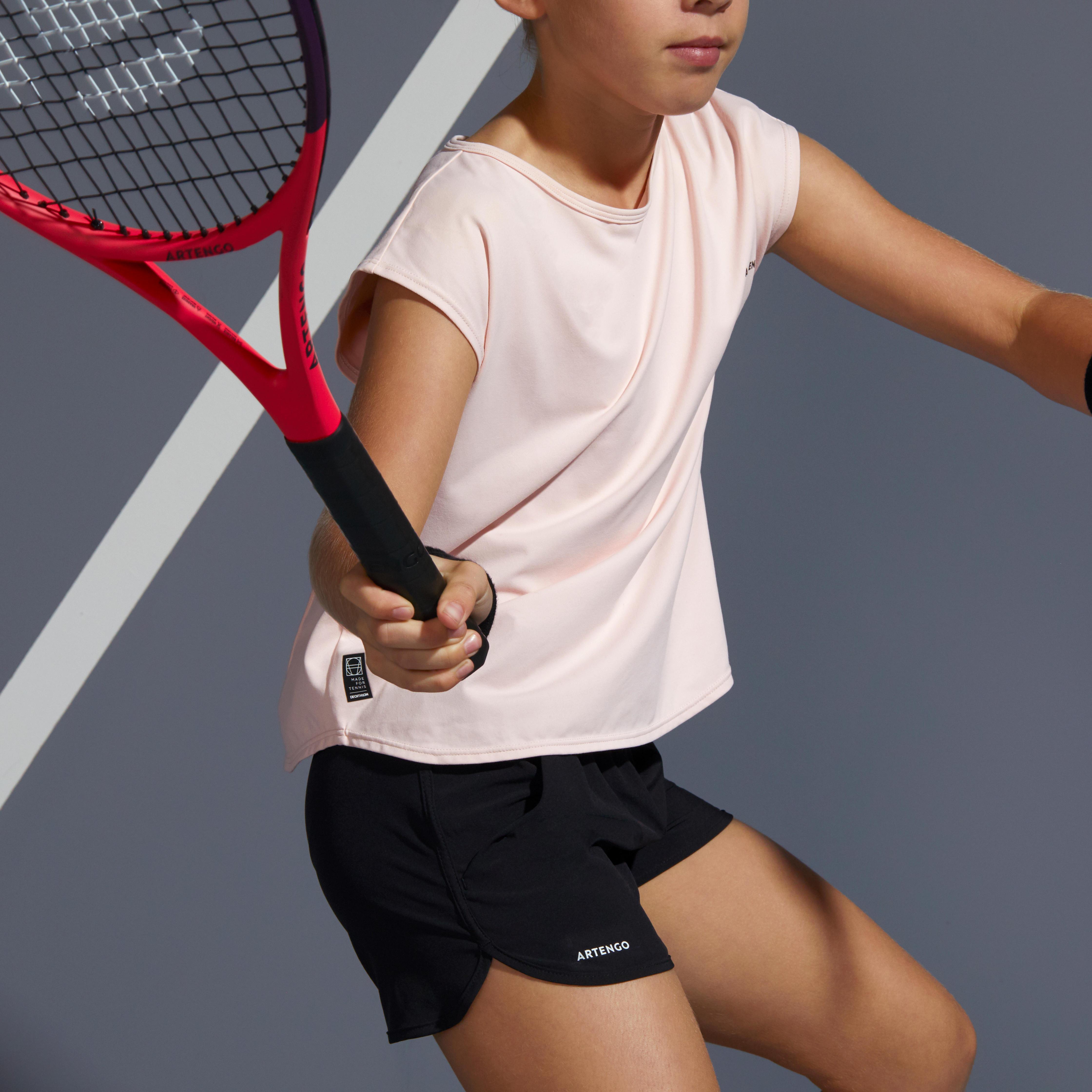 Girls' Tennis Shorts TSH500 - Black