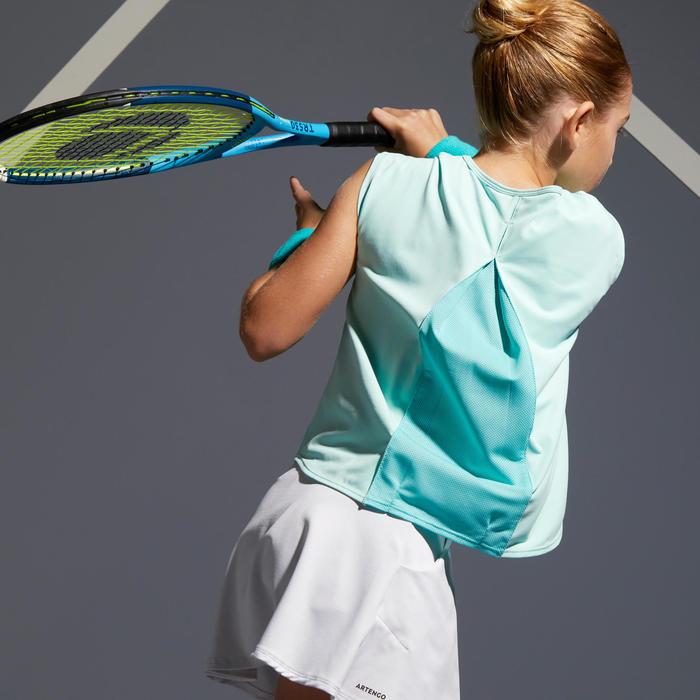 T-shirt 500 meisjes turquoise
