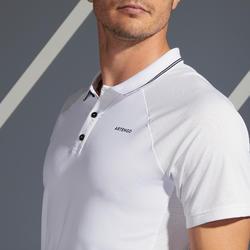 Tennispolo heren TPO 500 Dry wit