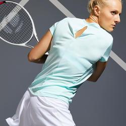 Tennis-T-shirt voor dames TS Dry 100 lichtgroen