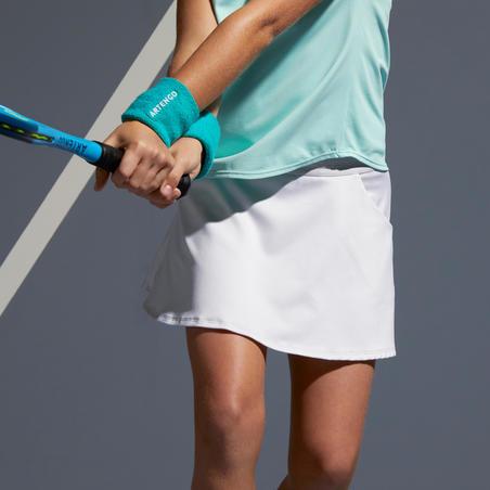 Girls' Tennis Skirt TSK500 - White