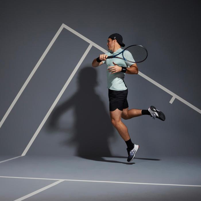 Tennisshirt heren 500 Dry groen grafisch