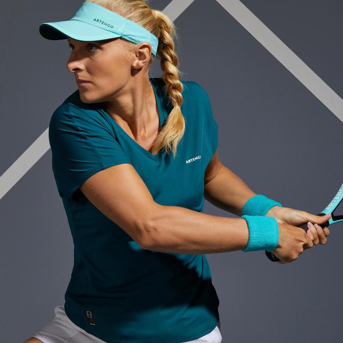 Tennisshirt voor dames TS Soft 500 groen